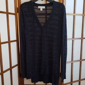 Michael Kors open knit tunic sweater EUC